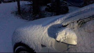 Download Frozen Snow Covered Tesla Model X - m1kTV0143 Video