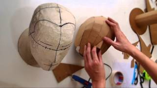 Download #79: Cardboard Head Form - with free template (size S, M, L) | Costume Prop | How To | Dali DIY Video