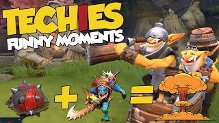 Download DotA 2 Techies Funny Moments - DIE SLARK! Video