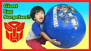 Download GIANT EGG SURPRISE OPENING TRANSFORMER Toys Video