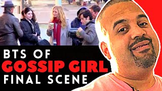 Download The Whole Cast of the Gossip Girls filming their final scene's at the Museum Of Art in NYC Video