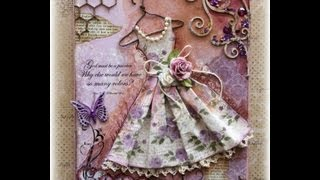 Download Vintage Dress Mixed Media Canvas Tutorial Video
