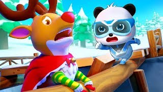 Download Reindeer Rudolph is in Danger | Super Panda Rescue Team 10 | Christmas Movie | Kids Cartoon |BabyBus Video