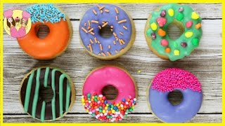 Download HOW TO MAKE DONUT COOKIES! Kids bake and decorate 3 styles of Cute rainbow doughnut biscuits Video