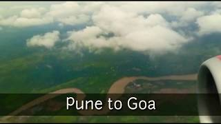 Download Amazing scenes from aeroplane Pune to Goa Video