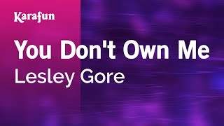 Download Karaoke You Don't Own Me - Lesley Gore * Video