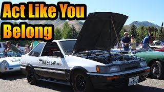 Download AE86 Sneaks Into Supercar Show Video