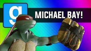 Download Gmod: Michael Bay Movie - Ninja Turtle Chain Explosion (Garry's Mod Sandbox Funny Moments) Video