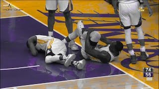 Download Draymond Green hurt Warriors @ Lakers Video