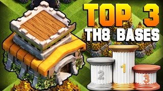 Download Clash of Clans | TOP 3 BEST TH8 Farming Base 2017 | CoC NEW Town Hall 8 Defense Strategy [TH8 2017] Video