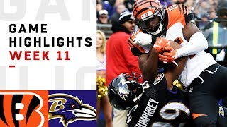 Download Bengals vs. Ravens Week 11 Highlights | NFL 2018 Video