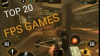 Download Top 20 FPS Games for Android and Ios Video