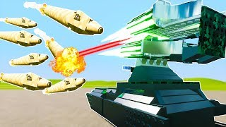 Download ULTIMATE FLAK CANNON SHOOTS ROCKETS OUT OF THE SKY CHALLENGE! - Brick Rigs Workshop Gameplay Video