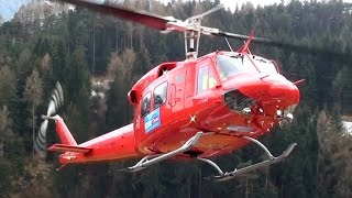 Download Bell 212 Twin Huey engine start and take off from Karres Heli Austria base Video