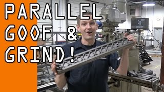 Download Parallel Fail! We goofed! Machining & Grinding a 24″ Parallel. WW129 Video