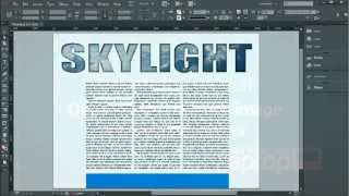 Download Outline type, fill with an image and adding effects - InDesign CC Tutorial [17/20] Video
