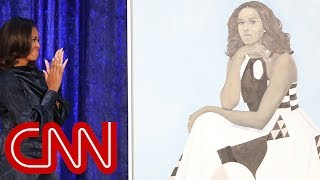 Download See Michelle Obama's portrait unveiled Video