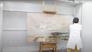 Download The Conservation of 1890 Painting 'The Flood in the Darling ' Video