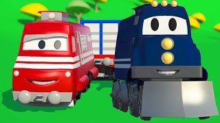 Download Carl the Super Truck and Troy the Train of Car City | Cars & Trucks cartoon for children Video