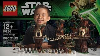 Download EWOK VILLAGE - LEGO Star Wars Set 10236 Time-lapse, Unboxing & Review Video