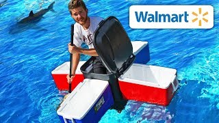 Download We Built Boats using ONLY Walmart Items!! *EXTREME BOAT SURVIVAL TEST* Video