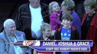 Download 45th Soldiers surprise families' at OKC Thunder Game Video