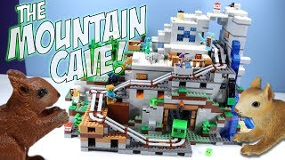 Download LEGO Minecraft The Mountain Cave Set 21137 Speed Build Review Video