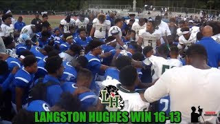 Download Langston Hughes Panthers Take The Win From Westlake Lions, Making Them (0-1), Winning 16 -13 Video