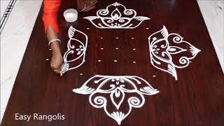Download Creative Deepam muggulu with 11 dots / Diwali special rangolis /Easy Rangolis Video