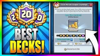 Download BEST DECKS to get 20 WINS!! TRY THESE FIRST!! New Clash Royale League Challenge - Best 20 Win Decks Video