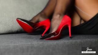 Download Pantyhose Show & Stiletto Shoeplay Video