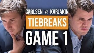 Download Karjakin vs Carlsen: World Championship Tiebreak Game 1 Video