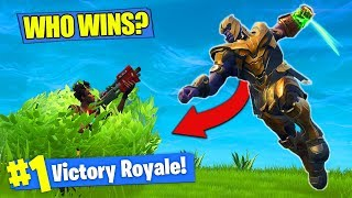 Download THANOS vs. BUSH NOOB - WHO WINS?? [Fortnite Battle Royale] Video