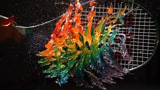 Download Rainbow Jelly Tennis - The Slow Mo Guys Video