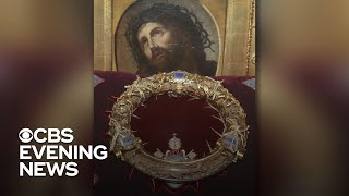 Download Crown of Thorns, stained glass windows survive Notre Dame Cathedral fire Video