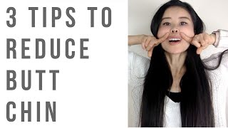Download 3 tips to reduce butt chin | Relax your chin, keep good posture and face shiatsu massage Video