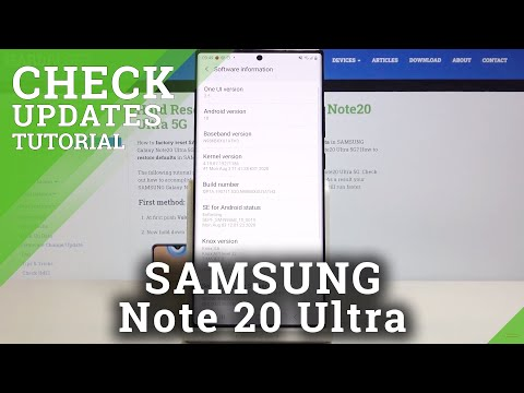 How to Update System in  SAMSUNG Galaxy Note 20 Ultra – Auto Update Settings