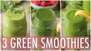 Download 3 Healthy Green Smoothies | Healthy Breakfast Ideas Video