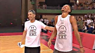 Download Steph Curry Mocks Klay Thompson's 360 Dunk Fail On His Under Armour Asia Tour Video