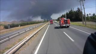 Download BOMBEROS TILTIL, apoyo a incendio (CB COLINA-LAMPA) Video