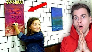 Download Girl Destroys Super Expensive Painting By Drawing On It!! Video