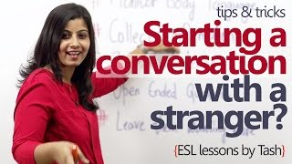 Download How to start a conversation with a stranger? - Spoken English lesson Video
