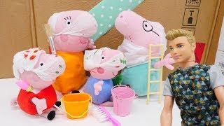 Download Свинка Пеппа и ремонт в домике - Джордж в обоях Video
