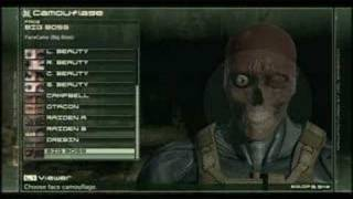 Download MGS4 Masks and Camo Video