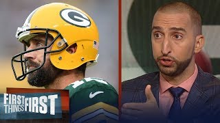 Download Nick Wright is 'nervous for Rodgers' if he plays this Sunday vs. Vikings | NFL | FIRST THINGS FIRST Video