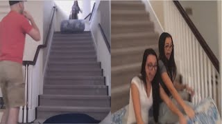 Download Merrell Twins The crazy mattress ride down stairs Video