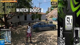 Download Watch Dogs 2 High Res Texture Pack Ultra Settings 4K | GTX 1080 SLI | i7 5960X 4.5GHz Video