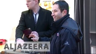 Download France: Benoit Hamon wins first round of Socialists' primary Video