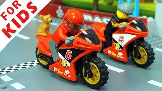 Download LEGO Motorbike and Cars Compilation. Lego Stop Motion Animation Video