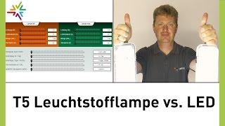Download Vergleich T5-Leuchtstofflampe vs LED (am Beispiel: T5/LED-Feuchtraumleuchte) [watt24-Video Nr.93] Video